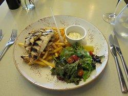 Grilled fish dish