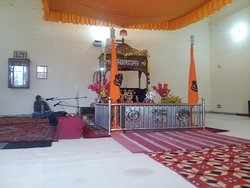 Guru Granth Sahib is recited in a room adjacent to the Museum