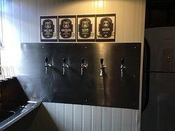 5 torneiras de chopp artesanal feito na casa!!!