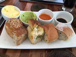 Bread and dip selection