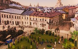 Діорама старого міста, масштаб 1:48