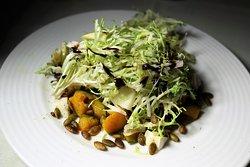 ROASTED KABOCHA & DELICATA SQUASH (Pear, Robiola Cheese, Spiced Pumpkin Seeds)