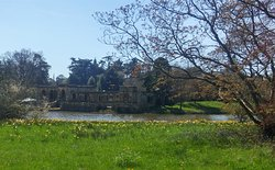 Lakeside View of Italian Garden Exterior