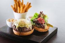 Cafe Gray Black Angus Burger