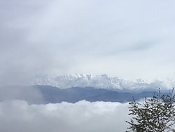 View of the snow on the Himalayas
