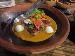 Cerdo Criollo (Yucatan deep fried pork belly.)