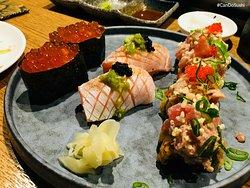 Fatty salmon, Ikura, and Volcanon Roll!