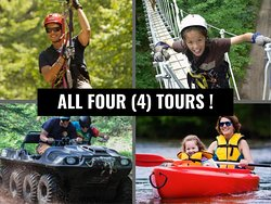 Northwoods Zip Line, Aerial Trekking, Argo ATV, and Kayak River Tours