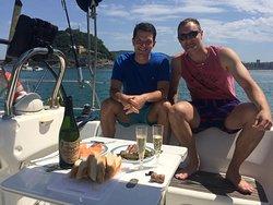 Lunch onboard