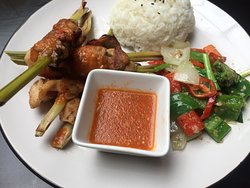 Grilled chicken with lemon-grass & chilli