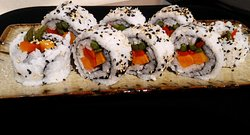 Super vegan futomaki (roasted pepper, sweet potato and asparagus)