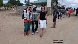 Tsavo Explorer with Pathway safaris and Swedish guest at Tsavo East Sala Gate,