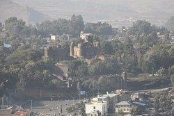 Une vue sur le palais de Fasilidès depuis l'hôtel