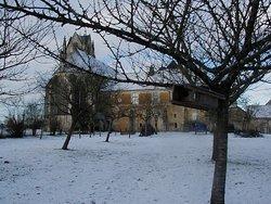 Le verger du prieuré de Sainte-Gauburge sous la neige...