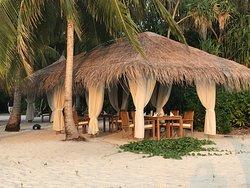 Restaurant Reethy Grill, situé sur la plage