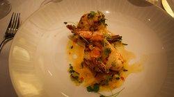 shrimp gazpacho appetizer- gluten free