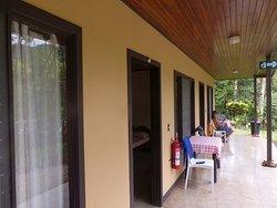 Terrasse am Dreizimmer- Bungalow