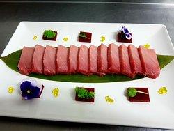 sashimi de toro atun rojo de almadraba