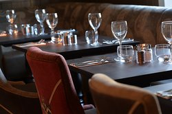 Pretty restaurant. Private dining spaces also available.