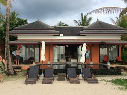 Beachfront villa with pool is the best location in this resort.