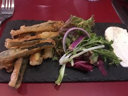 Courgettes Frites starter with Aoili