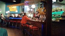 Sushi bar and bar