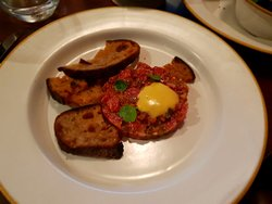 Smoked Steak Tartare with beef dripping sourdough
