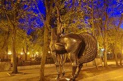 Sculpture a Boy on a Horse