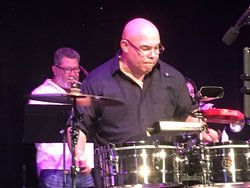 Grammy percussionist and band leader Chino Nuñez at Arts Garage, Delray Beach, May 12, 2018