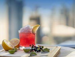 Crafted drinks with a view from the 25th floor
