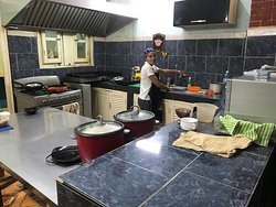 Two rice cookers, small stove, grill and this kitchen was clean and spotless.