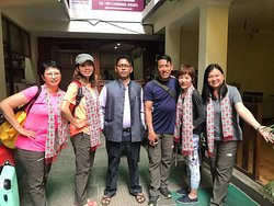 Photo with Mr. Devi and Kumar before ending our trip at Katmandu