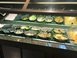 One side of the salad bar.