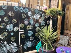 Garden gate honouring The Chelsea Flower Show 2018