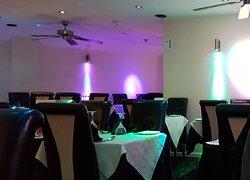 lovely use of coloured lighting