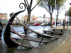 Viking Longboat Sculpture