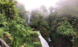 The hotel is part of the Paz Waterfall National Park