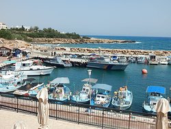 Harbour with pleasure and fishing boats.