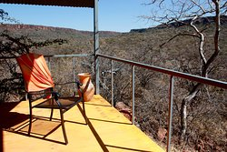 Balcony of a chalet at Waterberg Valley Lodge