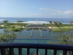 From Balcony : Pool, pond, beach