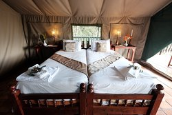 River tent accommodation