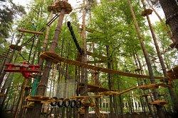 Этапы находятся на высоте от 2-х метров до 18 метров