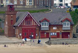 Cullercoats Bay, the old lifeboat station