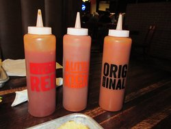 Three bbq sauce varieties