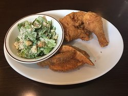 Fried Chicken and Potato Wedges