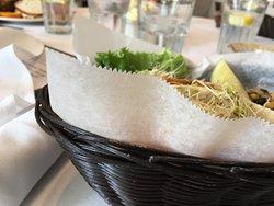 Tuna and chicken salad pitas