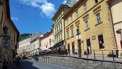 Old town area of Banska Stiavnica