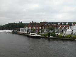 View of hotel from the bridge