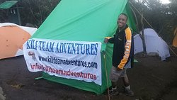 The Guide is feeling exciting camp one Machame route 7 days