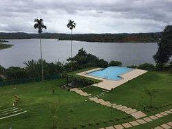 Beautiful resort at the bank of a lake
